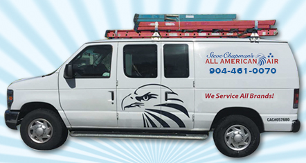 A service van owned by commercial HVAC company Steve Chapman's All American Air in St. Augustine, FL