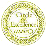 Lennox Circle of Excellence icon representing recognition of residential HVAC company Steve Chapman's All American Air in St. Augustine, FL
